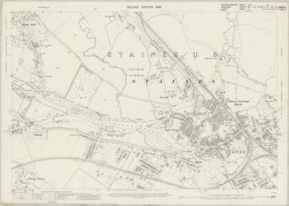 Buckinghamshire LVIII.8 (includes: Egham; Staines; Wyrardisbury) - 25 Inch Map