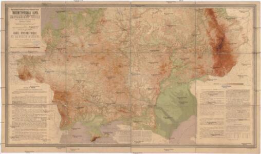 Gipsometričeskaja karta Jevropejskoj Rossii
