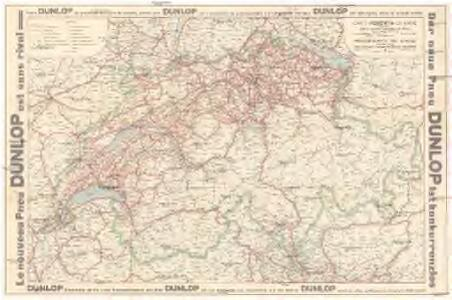 Carte routiere de la Suisse