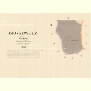 Begkowetz - m0307-1-002 - Kaiserpflichtexemplar der Landkarten des stabilen Katasters