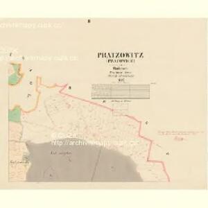 Pratzowitz (Pracowice) - c6065-1-002 - Kaiserpflichtexemplar der Landkarten des stabilen Katasters