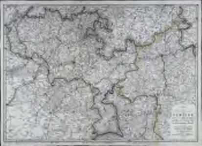 Charte des Departements von Jemappe nebst einem Theil des Sambre= und Maas und Ardenen Dep.ts vom französischen Reiche
