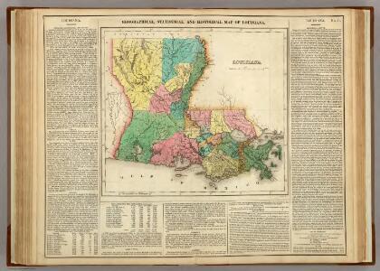 Map Of Louisiana.
