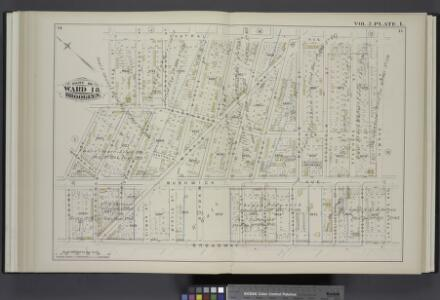 Vol. 2. Plate, L. [Map bound by Central Ave., Himrod St., La Fayette Ave., Broadway, Adams St., Melrose St.; Including Evergreen Ave., Central Pl., Bushwick Ave., Bremen St., Myrtle Ave., Jefferson St., Troutman St., Ditman St., Myrtle St., Suydam St., E