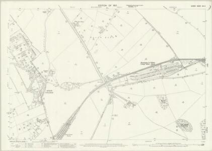 Surrey XIX.6 (includes: Banstead; Epsom; Ewell; Sutton and Cheam) - 25 Inch Map