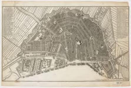 [Plan de la grande & fameuse ville marchande d'Amsterdam = Plan van de wyd vermaarde en beroemde koop stad Amsterdam