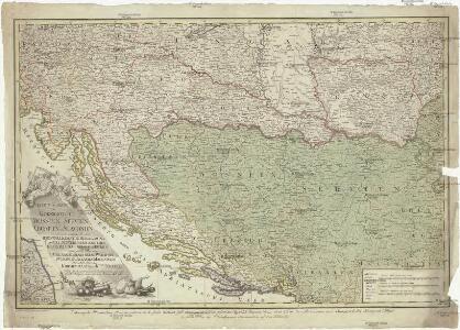 Neueste Karte der Koenigreiche Bosnien Servien Croatien und Slavonien