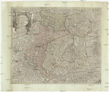 Nova mappa archiducatus Austriae superioris ditiones in suos quadrantes divisas