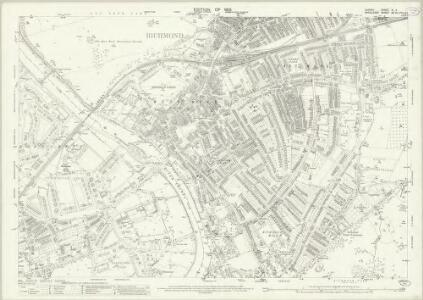 Surrey VI.4 (includes: Heston and Isleworth; Petersham; Richmond; Twickenham St Mary The Virgin) - 25 Inch Map