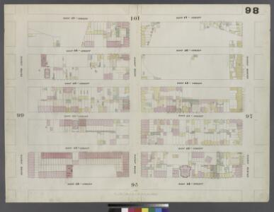 Plate 98: Map bounded by West 47th Street, Eighth Avenue, West 42nd Street, Tenth Avenue