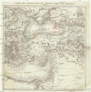 Karte des Küstenlandes von Aegypten, Syrien und Kleinasien