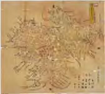 宮津藩領地内石高明細図