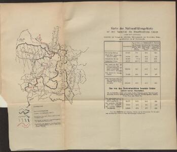 Karte der Nationalitätengebiete auf dem Territorium des Grossfürstentums Litauen