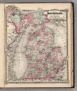 Schonberg's Map of Michigan.