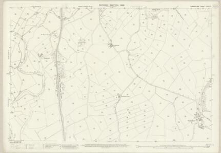 Cumberland LXXVII.4 (includes: Beckermet St Bridget) - 25 Inch Map