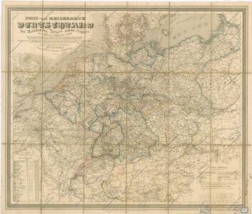 Post und Reisekartre von Deutschland...