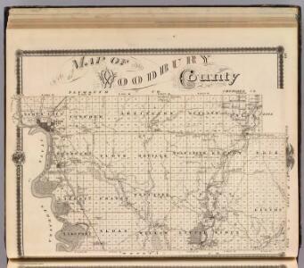 Map of Woodbury County, State of Iowa.