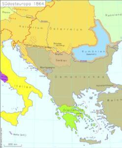 Südosteuropa 1864