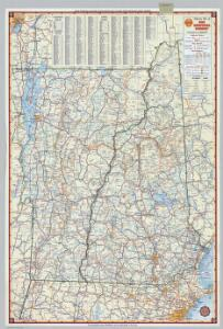 Shell Highway Map of New Hampshire, Vermont.