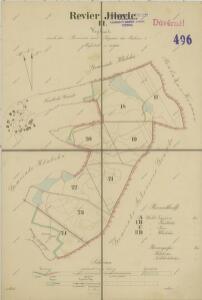Mapa lesních cest v polesí Jílovice 1