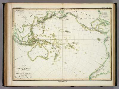Karte von dem Vulkan Gurtel.