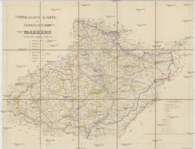 Strassen Karte der Markgrafschaft Maehren, und des Herzogthums Schlesien