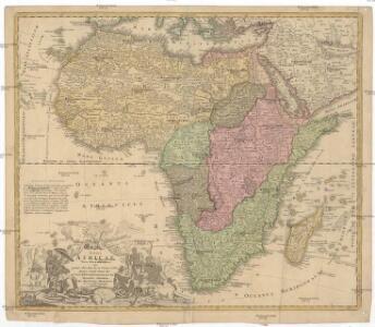 Totius Africae nova repraesentatio qua praeter diversos in ea status et regiones, etiam origo Nili ex veris RRPP mißionariorum relationibus ostenditur