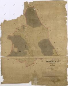 Katastrální mapa obce Šimanov