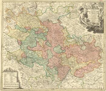 Exactissima Palatinatus ad Rhenum Tabula in qua Episcopatus Wormaciensis et Spirensis Ducatus Bipontinus aliaeq; complures Insertae, adjacentes et sinitimae Regiones ostenduntur comante