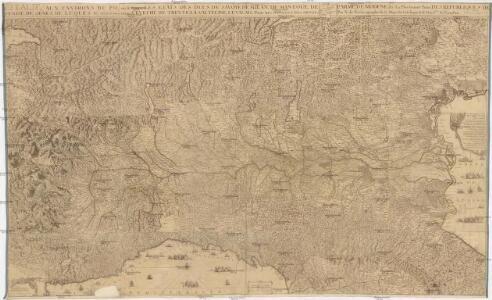 L'Italie, aux environs du Po, ou se trouve les etats des ducs de Savoye, de Milan, de Mantoue, de Parme, de Modene, &c