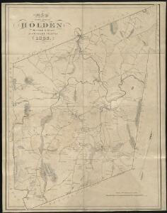 A map of the town of Holden