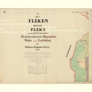 Fleken - c1669-1-004 - Kaiserpflichtexemplar der Landkarten des stabilen Katasters