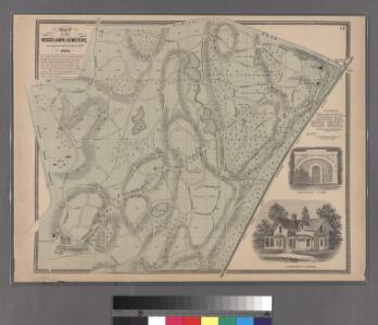 Plate 17: Map of the Woodlawn Cemetery, incorporated December 29th, 1863.