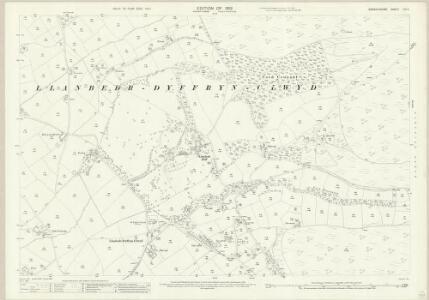 Denbighshire XIX.4 (includes: Llanbedr) - 25 Inch Map