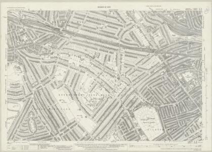 London (1915- Numbered sheets) IV.3 (includes: Hampstead; Willesden) - 25 Inch Map