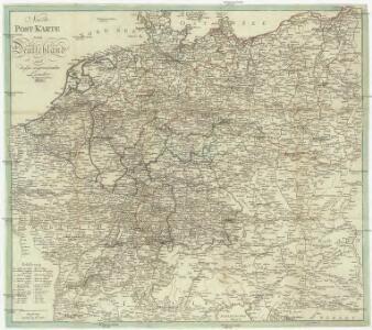 Neuste Post Karte von Deutschland und dessen angrenzenden Laender