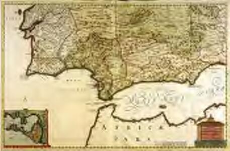 Regnorum Castellæ novæ Andalusiæ Granadæ Valentiæ et Murciæ accurata tabula