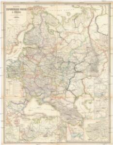 Karta evropejskoj Rossii i Sibiri