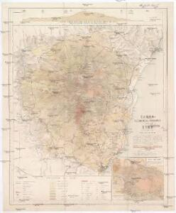 Carta volcanologica e topografica dell' Etna
