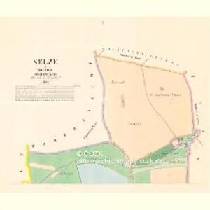 Selze - c6780-1-001 - Kaiserpflichtexemplar der Landkarten des stabilen Katasters