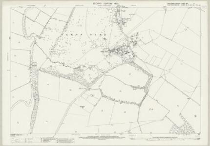 Northamptonshire XIII.11 (includes: Elton; Fotheringhay; Warmington) - 25 Inch Map