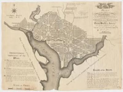 Plan of the city of Washington in the territory of Columbia : ceded by the states of Virginia and Maryland to the United States of America, and by them established as the seat of their government, after the year MDCCC