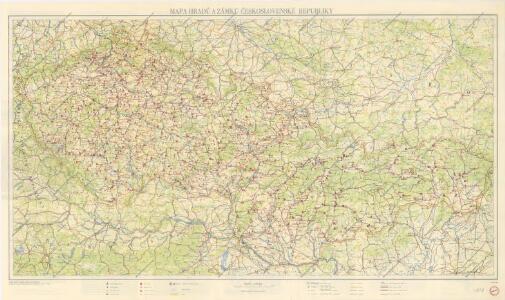 Mapa hradů a zámků Československé republiky