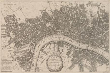 A POCKET MAP of the Cities of LONDON, WESTMINSTER & SOUTHWARK With the Addition of the Buildings to the Present Year