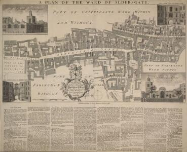 A PLAN OF THE WARD OF ALDERSGATE