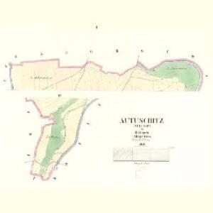 Autuschitz (Autussic) - c8286-1-001 - Kaiserpflichtexemplar der Landkarten des stabilen Katasters