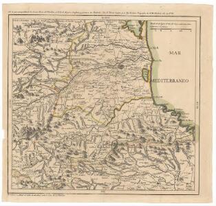 Carta que comprhende la tierra llana del Rosellon, el Valle de Espira, Conflan y frontera de Cataluña