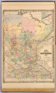 Map of the State of Minnesota, 1874.