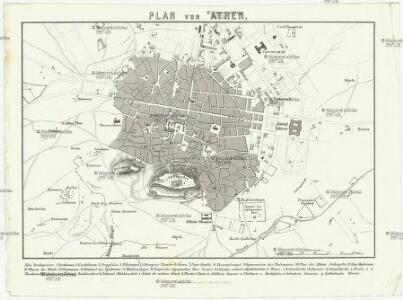 Plan von Athen