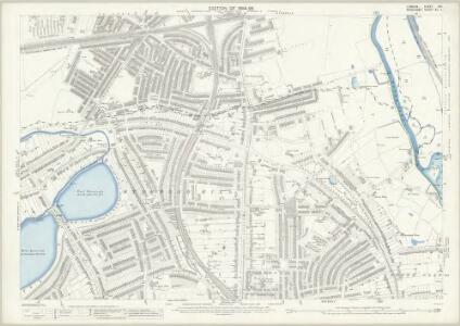 London (Edition of 1894-96) XXI (includes: Hackney; Stoke Newington; Tottenham) - 25 Inch Map